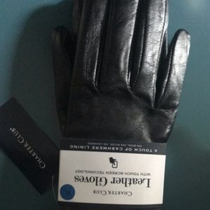 Charter Club Cashmere lined gloves